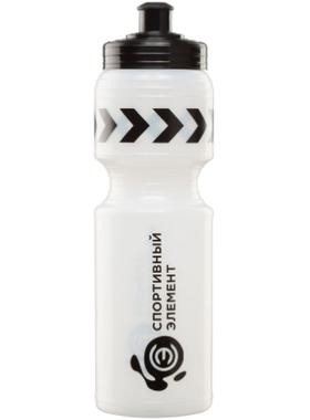 Бутылка для воды матово-прозрачная с чёрной крышкой S11-500 500 мл