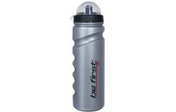 Бутылка для воды с крышкой серая