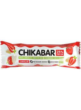 Протеиновый батончик Chikalab Клубника со Сливками