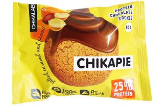 Протеиновое печенье Chikalab Арахис с начинкой