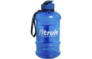 Бутылка для воды 2,2 л синяя прозрачная