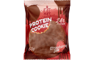 Choco Protein Cookie (клубничный джем)