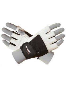 Перчатки Fitness MFG444 бело-черные