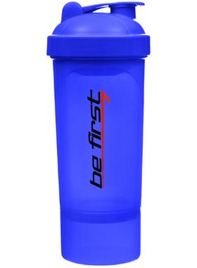Синий шейкер 2 в 1, с контейнером